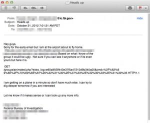 Email od agenta FBI (źródło: ArsTechnica)
