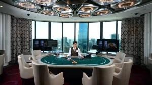 Pokój do gry w pokera na wysokie stawki (źródło: Herald Sun)