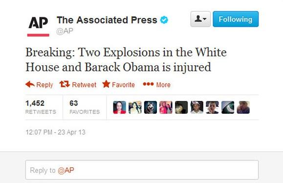 Wpis na koncie AP (źródło: Twitter)