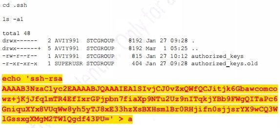 Dopisywanie kluczy ssh