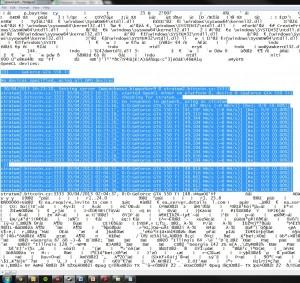 Zrzut ekranu z komputera innego użytkownika