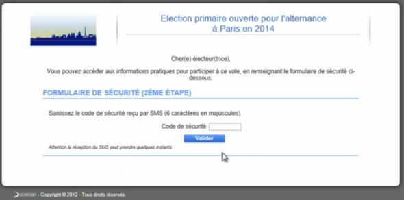 Fragment procesu rejestracji wyborcy