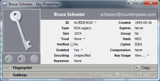 Klucz Schneiera z 1995