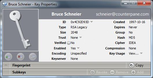 Klucz Schneiera z 1997