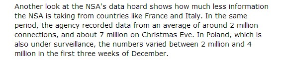 Ile danych zbiera NSA w Polsce