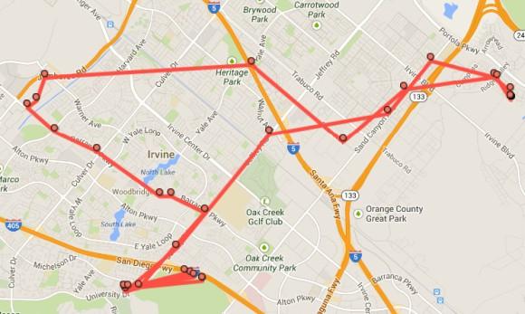 Przykładowa mapa lokalizacji