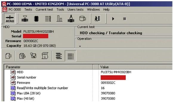 Co raportuje oszukany PC-3000
