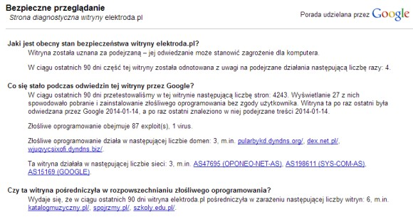 Opinia Google o elektroda.pl
