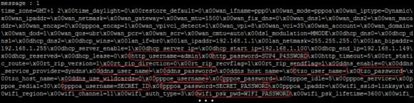 Zrzut konfiguracji rutera