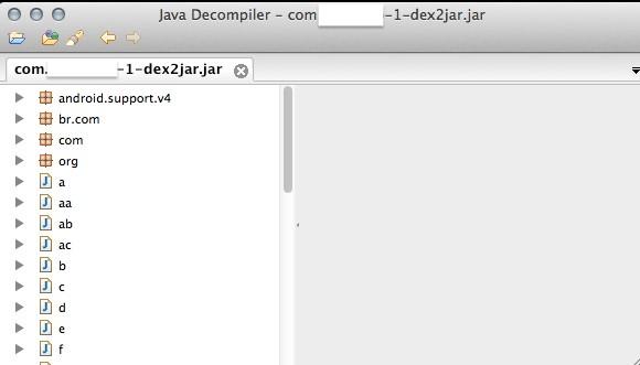 Aplikacja w dekompilerze