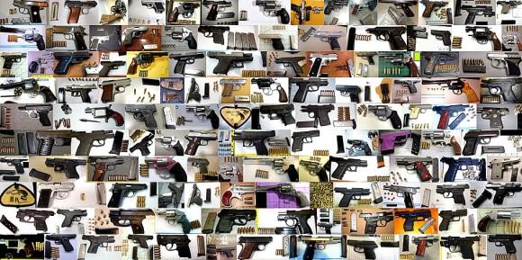 Broń palna przejęta na lotniskach (źródło: TSA)