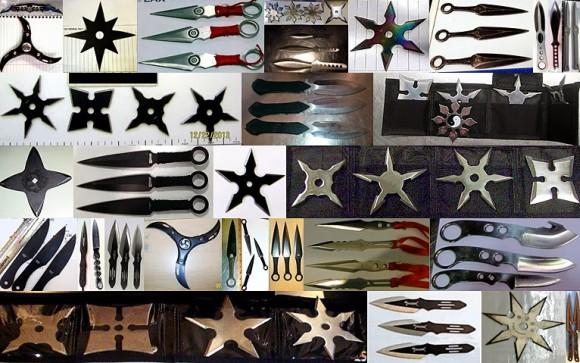 Kolekcja gwiazdek ninja (źródło: TSA)