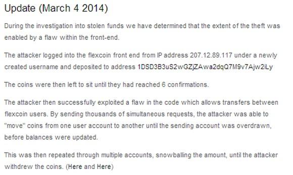 Zaktualizowany komunikat Flexcoin.com