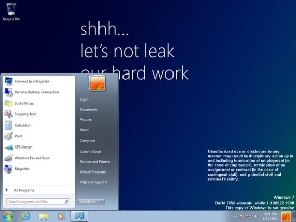 Pierwsze wycieki ekranów Windows 8