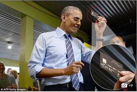 Prezydent Obama i karta płatnicza