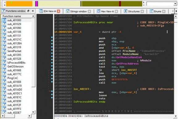 Analiza fragmentu kodu Poweliksa (źródło: Kafeine)