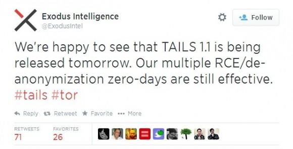Tweet Exodus Intelligence