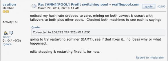 Skarga użytkownika bitcointalk.org