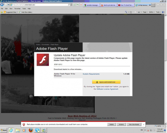 Przykład ataku FinFly Web