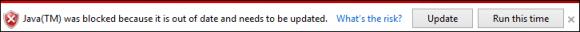 Internet Explorer 11 zablokowana Java