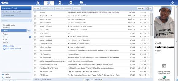 Zrzut ekranu skrzynki Satoshi