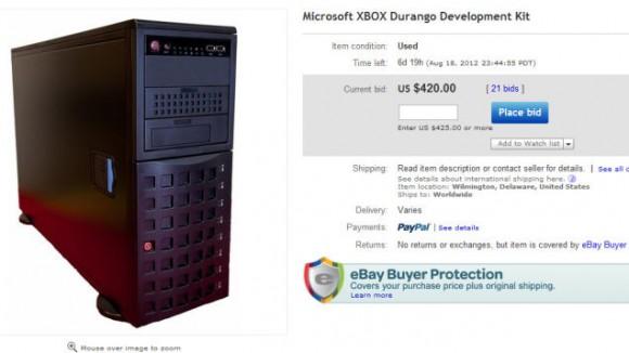 Oferta sprzedaży konsoli na Ebayu