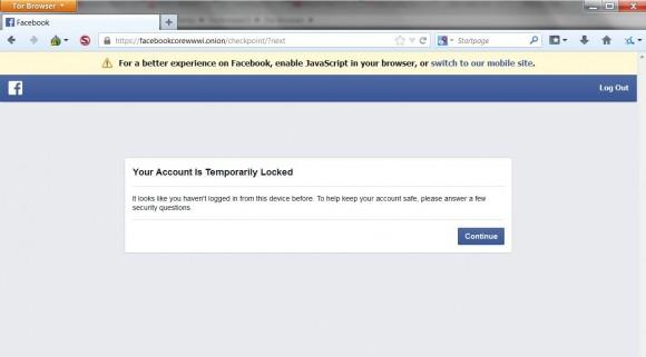 Facebook jako ukryta usługa działa, choć trzeba się zweryfikować