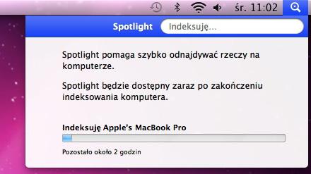 Indeksowanie plików przez Spotlight