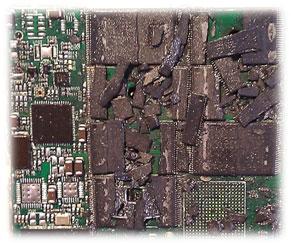 Zniszczone układy flash