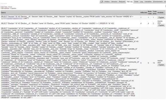 Treść zapytania SQL (obraz celowo pomniejszony)