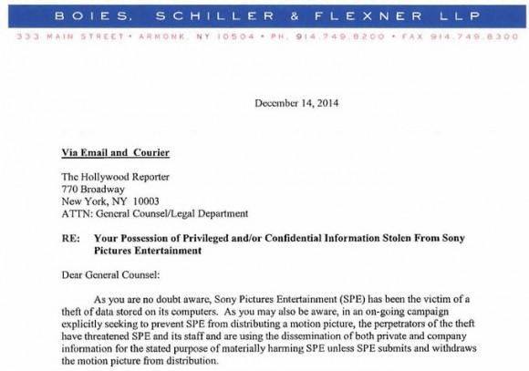 List od prawników Sony