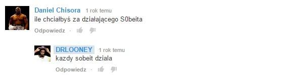 Komentarze z Youtube
