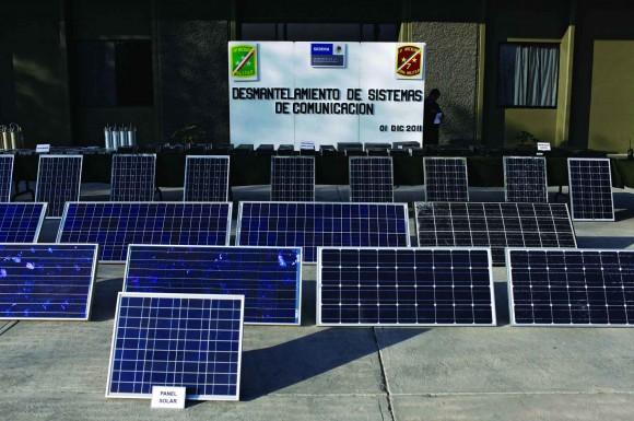 Przejęte baterie słoneczne