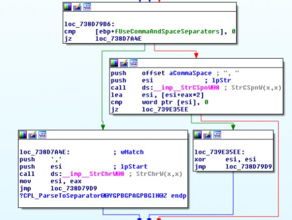 Fragment kodu umożliwiającego atak