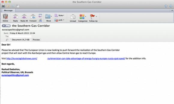 Przykładowa wiadomość z phishingiem
