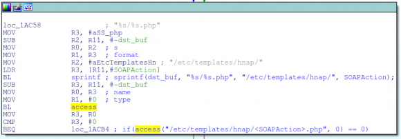 Fragment spapranego kodu