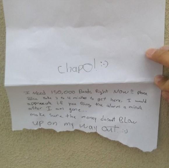 List z żądaniem okupu