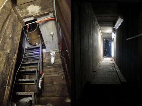 Wejście pod wanną oraz tunel