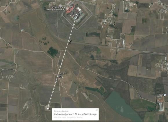 Mapa okolic więzienia