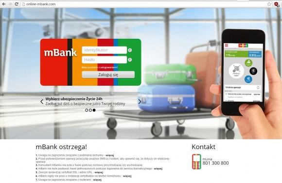 Fałszywa strona mBanku