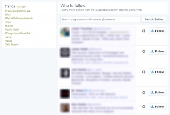 Sugestie od Twittera