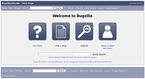 Interfejs Bugzilli