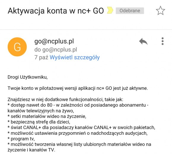 nc+ Go i pilotaż