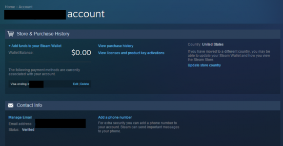 Cudze konto Steam (źródło: Kotaku)
