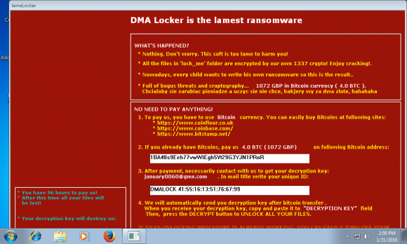 DMA Locker - komentarze autora (źródło: www.hybrid-analysis.com)