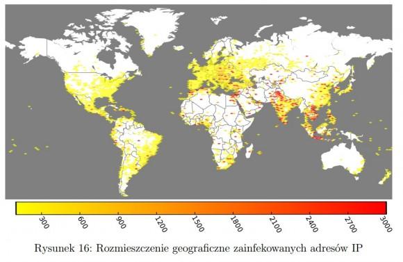 Mapa infekcji (źródło: CERT.PL)