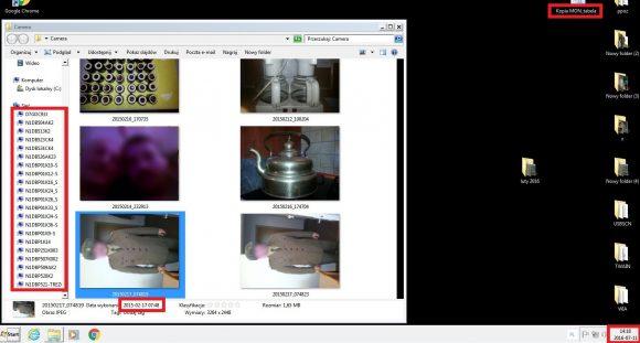 Zrzut ekranu z naszymi zaznaczeniami istotnych fragmentów