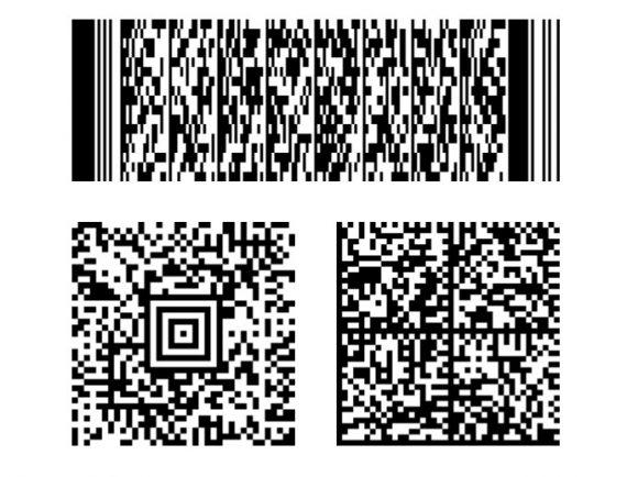Przykładowe kody kreskowe