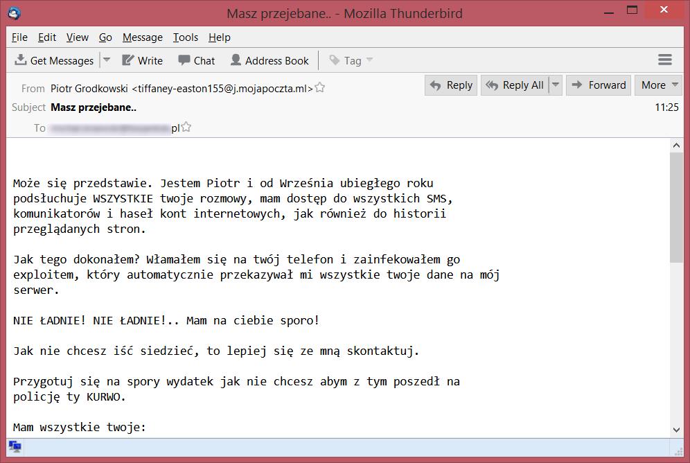 187138f4a3e92 Też dostaliście dzisiaj e-maila od szantażysty